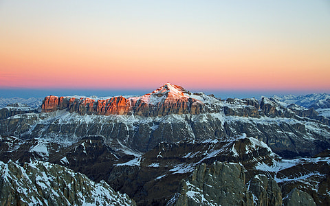 Alps Snow Sunrise Morning