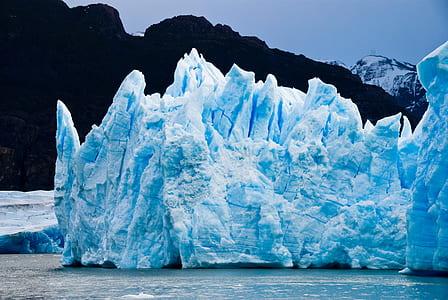 landscape photography of iceberg