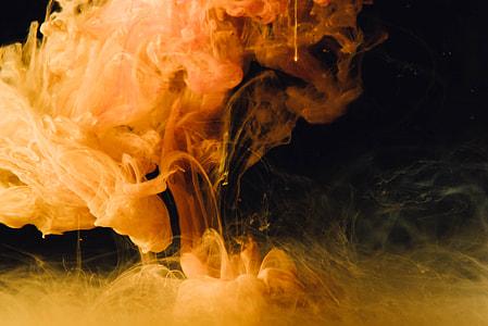 orange smoke in time lapse photography