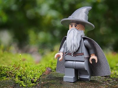 grey wizard minifig