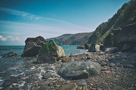 Beach at Lynmouth, Devon, England