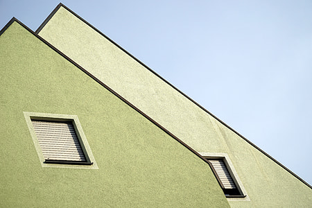 green house attic under white sky