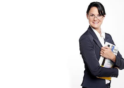 woman wearing black peaked lapel suit jacket