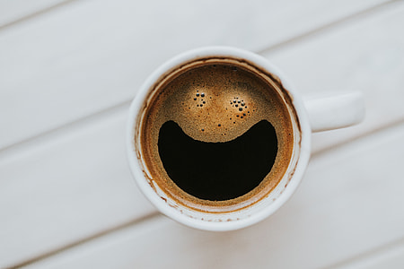 Happy morning cup of coffee