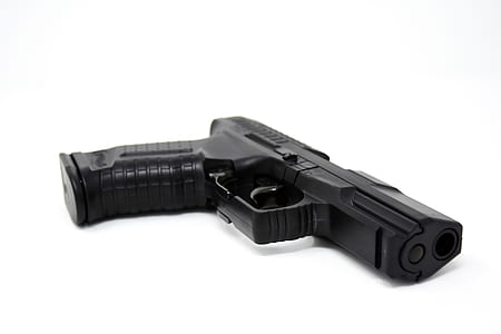 black semi-automatic pistol
