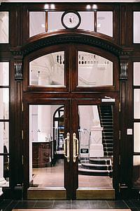 Beautiful wooden doors in Barcelona, Spain