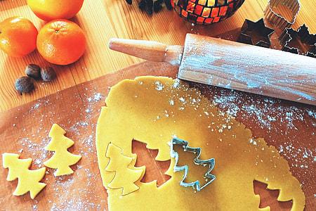 Overhead shot of Christmas baking