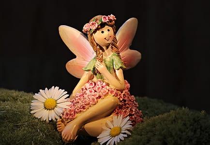 girl fairy ceramic figurine