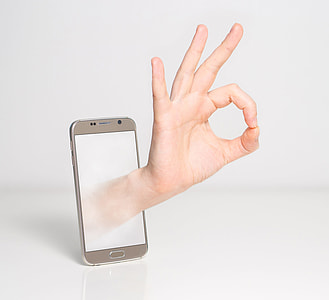 silver Android smartphone