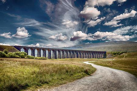 concrete train bridge