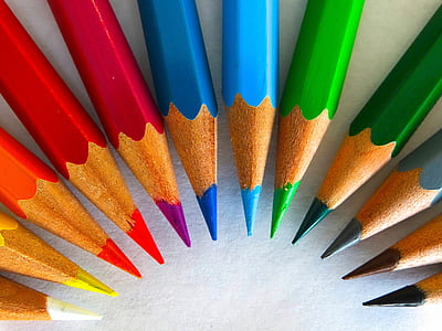 assorted-color coloring pencil lot
