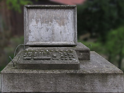 photo of grey concrete computer