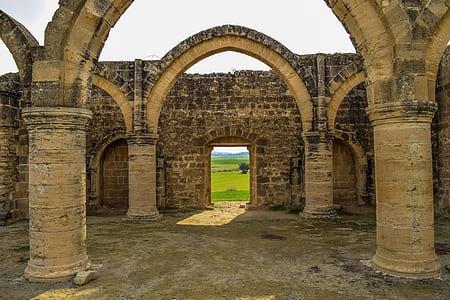 brown brick ruins