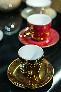 Collection of fancy tea cups