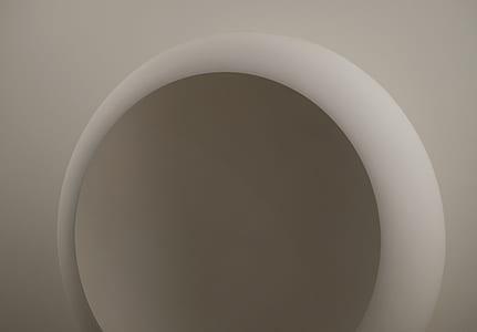 white, abstract, circle, round, contemporaryart