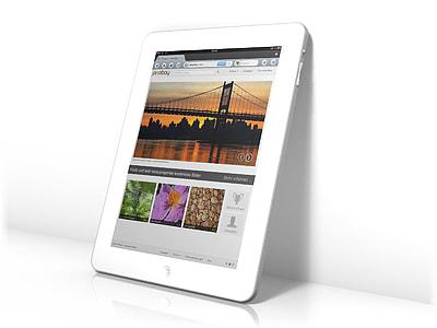 whiten iPad