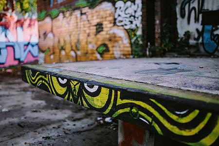 Urban graffiti on the city streets