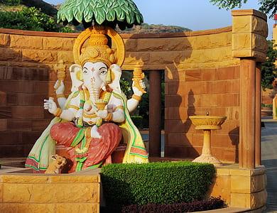 white and green Ganesha statue during daytime