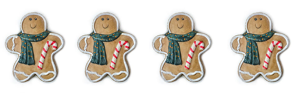 four gingerbreads