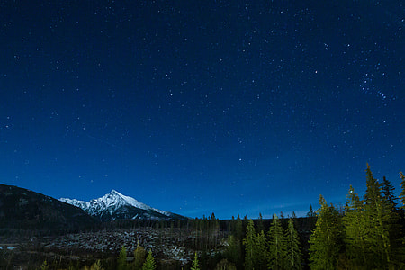 Mountain With Night Sky Full of Stars