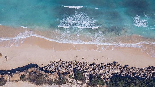 aerial photography of an ocean