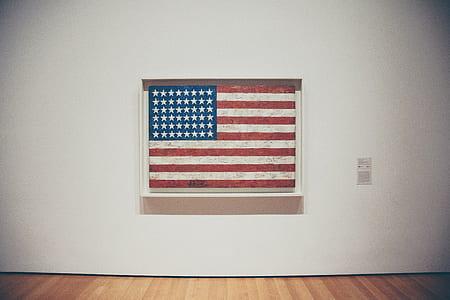 photo of flag of U.S.A. wall decor